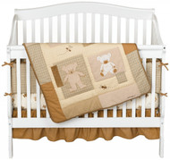 Eddie Bauer 4 Piece Crib Set Teddy Bear