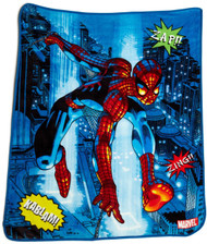 MARVEL Spiderman Comic Fleece Throw