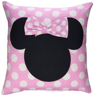 Disney Minnie Mouse Hearts Decorative Pillow, 16-Inch x 16-Inch