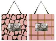 Trend Lab Set of 2 Frame Set , Kenya Pink Print