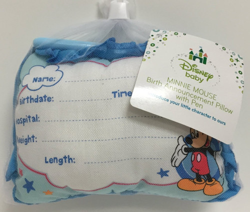 Mickey Mouse Birth Announcement Door Pillow
