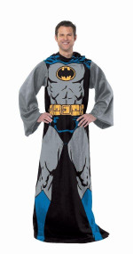 DC Comic Batman, Batman in Black 48-Inch-by-71-Inch Adult Comfy Throw with Sleeves