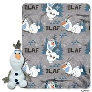 Disney's Frozen Olaf Character Plush and Fleece Throw Set