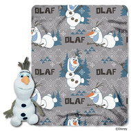 Disney's Frozen Olaf Character Plush and Fleece Throw Set
