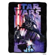 "Star Wars Darth Vader Darth Night Super Plush Throw 40""x60"""