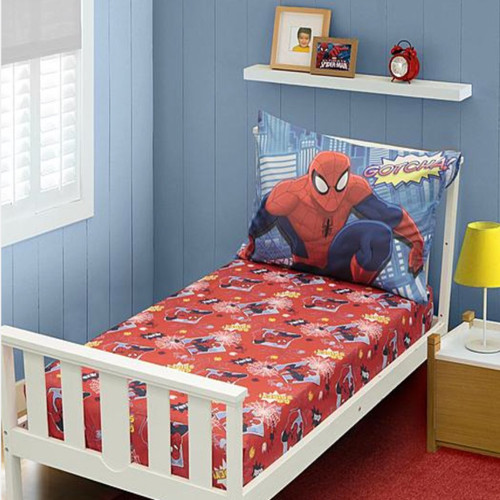 Amazing Spiderman Toddler Bed Sheets   2pc (Pillow Case And Fitted ...