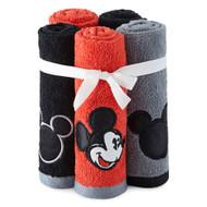 Disney Mickey Tuxedo 5-Piece Embroidered Washcloth Set