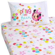 Disney Minnie Mouse Bow-Tique Twin Size 3 Piece Sheet Set