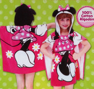 Disney Minnie Mouse Hooded Bath/Beach Poncho Towel
