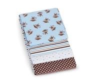 Carter's 4 Pack Wrap-Me Up Receiving Blanket - Blue Monkey