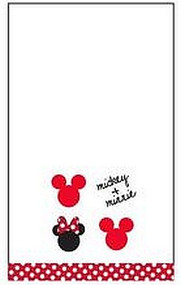 Disney Mickey and Minnie Hand Towel, White
