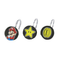 Super Mario Shower Curtain Ring Hooks