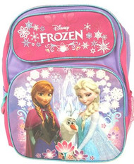"Disney Frozen Anna and Elsa Large Backpack 16"" New"