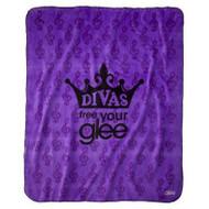 "Glee coral fleece throw - ""Divas - Free you Glee"""
