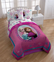 "Disney Frozen Anna and Elsa ""Snowflake"" Comforter, Twin/Full"
