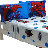 4pc Marvel Spiderman Full Bed Sheet Set Superhero Astonish Bedding Accessories