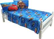 4pc Disney Cars Full Bed Sheet Set Lightning McQueen City Limits Bedding Accessories