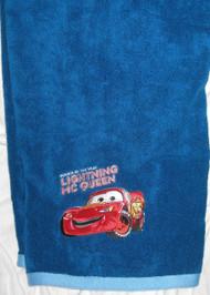 Disney Pixar Cars Deluxe Blue Beach Bath Towel Embroidery Applique 27x50in