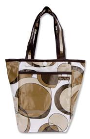 Trend Lab Mini Diaper Tote Bag, Bubbles Brown