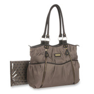 Carter's Double Zip Diaper Bag - Taupe