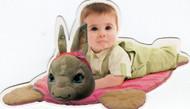 Peter Rabbit Pink Cuddle Mat Blankie