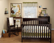 Fisher Price Safari Baby 8 piece crib bedding set