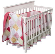 Bananfish Vintage Rose 4pc Crib Bedding Set