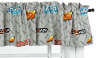 Cars Buddies Window Valance Grey