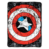 Marvel Heroes Avengers Battle Shield Plush Throw Blanket