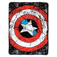 Marvel Heroes Avengers Battle Shield Plush Throw Blanket