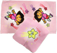 Nickelodeon Dora the Explorer Hand Towel and Washcloth 2Pc Set