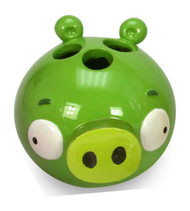 "Angry Birds ""Burst"" Pig Toothbrush Holder"