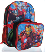 "Marvel Avengers 16"" Backpack with Lunch Bag"