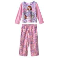 Disney Sofia the First Fleece Toddler Pajama Set (Size 2T)