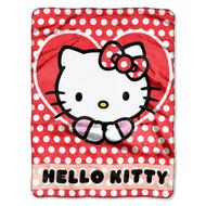 """Sanrio """"Hello Kitty Polka Dot Explosion"""" Silk Touch Throw Blanket"""