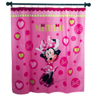 Disney Minnie Mouse Bowtique Fabric Shower Curtain