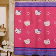 "Hello Kitty ""Kitty & Me"" Fabric Shower Curtain"