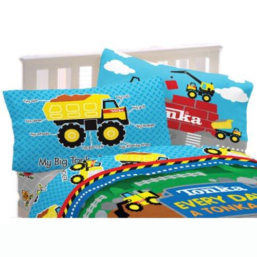 White 6 Cube Kids Toy Games Storage Unit Girls Boys: Tonka 3pc Twin Sheet Set