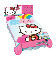 "Sanrio Hello Kitty ""Happy Clouds"" Twin Blanket"