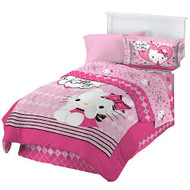 "Hello Kitty ""Sweet and Sassy"" 3pc Twin Comforter Set"