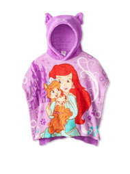 Ariel and Treasure Hooded Poncho