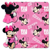 "Disney Minnie Mouse ""NFL New York Giants"" Throw with Hugger"