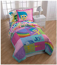 "Disney/Pixar Inside Out ""Rainbow Patchwork"" Twin Comforter"