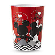 Disney Mickey & Minnie Mouse Luv U More Wastebasket