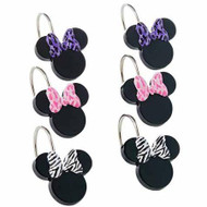 Disney Diva Minnie Mouse Shower Curtain Hooks 12-pk.