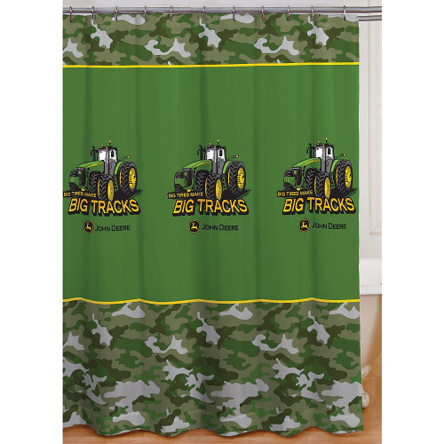 Tracks Fabric Shower Curtain Image 1