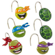 Nickelodeon Teenage Mutant Ninja Turtles Shower Curtain Hooks 12-pk.