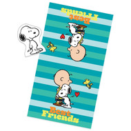 Peanuts Best Friends Bath Towel And Wash Mitt Set