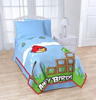 """Angry BirdsTwin/Full Micro Raschel Blanket 62"""" X 90"""""""