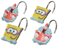 Nickelodeon SpongeBob Squarepants Bubbly Fun Shower Curtain Hooks